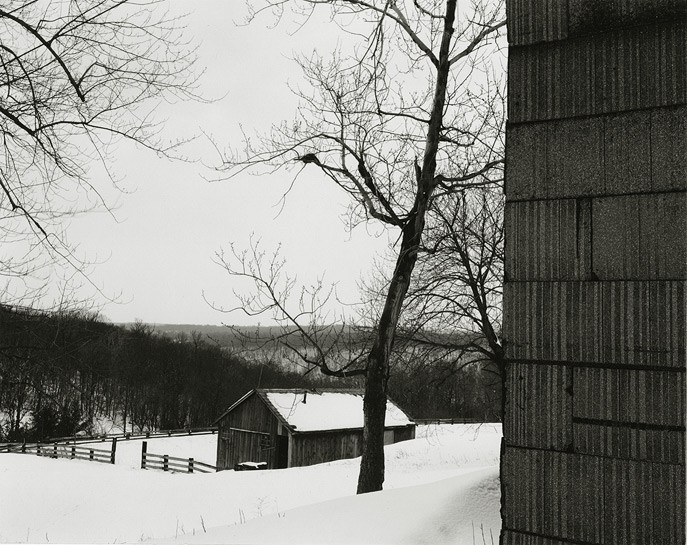 Near Frenchtown, New Jersey, 1970, 81-7002-01, 8x10 gelatin silver chloride contact print