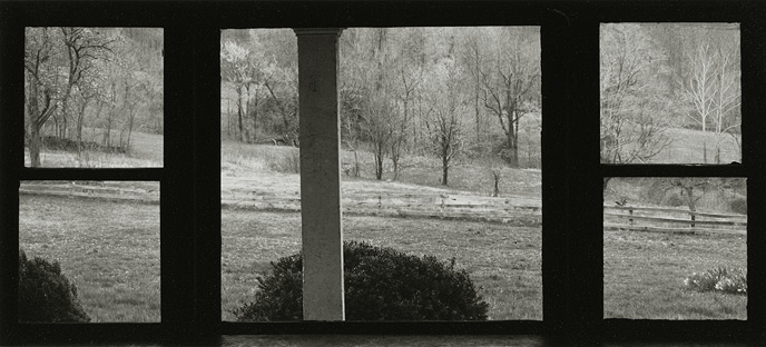 Near Frenchtown, New Jersey, 1971, 81-7111-02, 4x10 gelatin silver chloride contact print