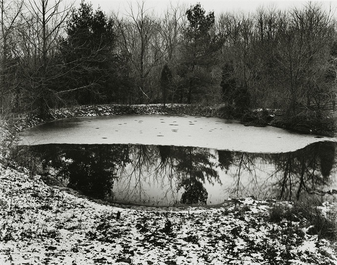 Near Frenchtown, New Jersey, 1971, 81-7112-03, 8x10 gelatin silver chloride contact print