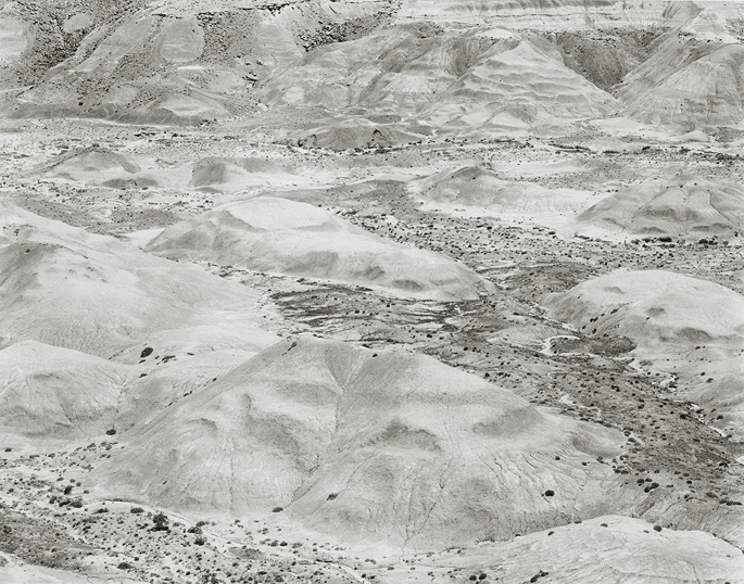 Painted Desert, Arizona, 1978, 81-7805-92-99, 8x10-inch gelatin silver chloride contact print