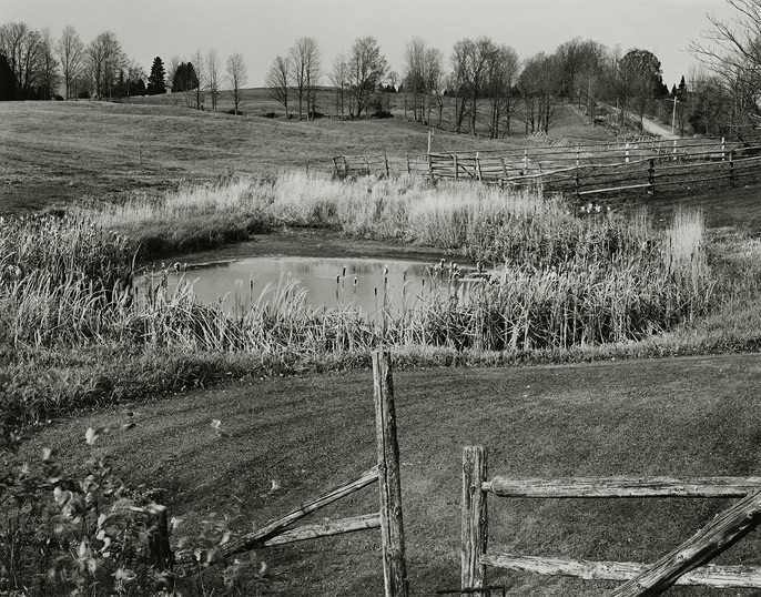 "Craftsbury Common, vermont, 1992, 81-9210-10, 8""x10"" Gelatin Silver Chloride Contact Print"