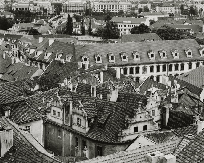 "Prague, Czech Republci, 1994, 81-9405-62, 8""x10"" Gelatin Silver Chloride Contact Print"