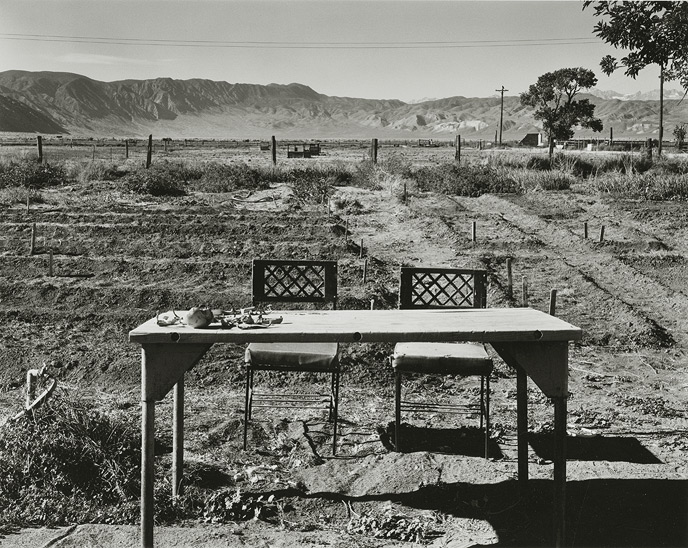 "Deep Springs College, Deep Springs, California, 1995, 81-9510-19, 8""x10"" Gelatin Silver Chloride Contact Print"