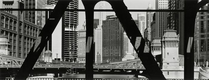 "Chicago, 2008, C82-0806-18-40, 8""x20"" gelatin silver chloride contact print"
