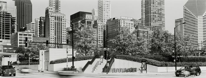 "Chicago, 2008, C82-0806-29-51, 8""x20"" gelatin silver chloride contact print"