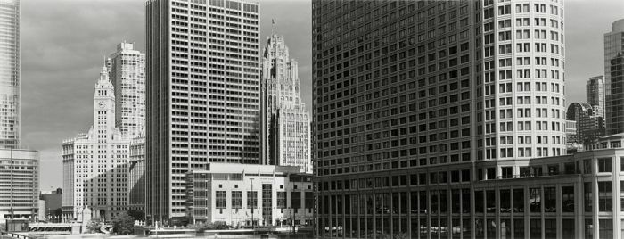 "Chicago,2008, C82-0806-64-86, 8""x20"" gelatin silver chloride contact print"