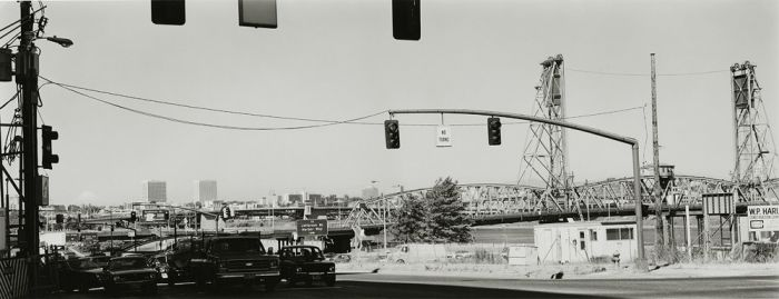 "Portland, Oregon with Mt. St. Helens, 1979, 82-7906-13, 8""x20"" gelatin silver chloride contact print"