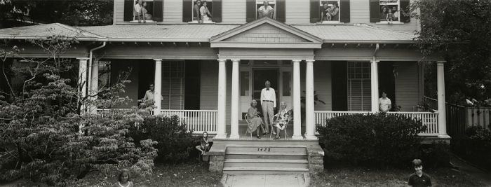 "Grogan Family, Washington, D.C. 1980, 81-8008-08, 8""x20"" gelatin silver chloride contact print"