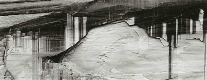 "Canyon del Muerto, 1991, 82-9110-71-96, 8""x20"" gelatin silver chloride contact print"