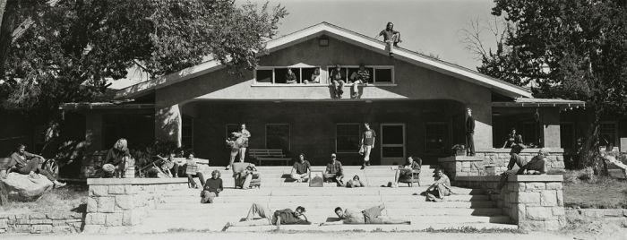 "The Students of Deep Springs College, 1995, 82-8510-08, 8""x20"" gelatin silver chloride contact print"