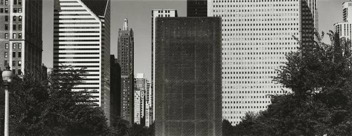 "Chicago, 2008, C82-0810-16-114, 8""x20"" gelatin silver chloride contact print"