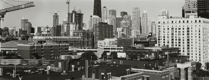 "Chicago, 2008, C82-0810-56-154, 8""x20"" gelatin silver chloride contact print"