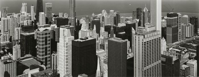 "Chicago, 2008, C82-8510-83-181, 8""x20"" gelatin silver chloride contact print"